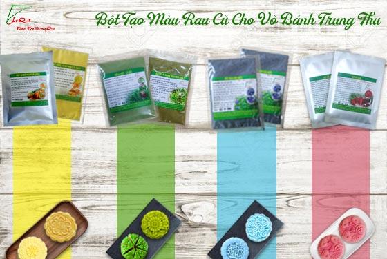 6 loại bột màu tự nhiên rau củ quả chuyên dùng làm vỏ bánh trung thu