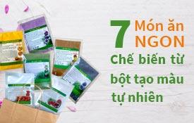 7 Món ngon được chế biến từ bột tạo màu tự nhiên rau củ quả cho ngày hè nắng nóng