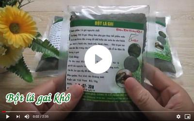 Giới thiệu về bột lá gai khô Chợ Quê [video]