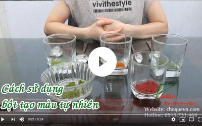 Cách sử dụng bột tạo màu tự nhiên [video]
