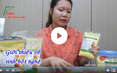 Giới thiệu về tinh bột nghệ vàng tinh bột nghệ đỏ [video]