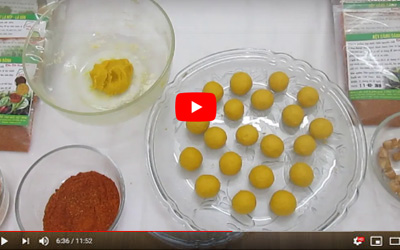 Cách làm bánh trôi màu vàng bột dành dành [video]