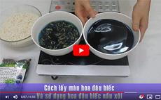 Cách sử dụng hoa đậu biếc khô [video]