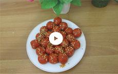 Cách làm bánh trôi bánh chay màu đỏ bột gấc khô [video]