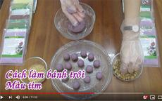 Cách làm bánh trôi màu tím bột khoai lang tím [video]