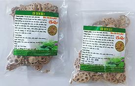 Củ sen sấy khô: Sản phẩm mới tại Chợ Quê