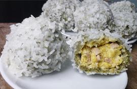 Cách nấu xôi khúc từ bột lá khúc khô
