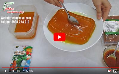 Cách làm thạch rau câu bột dành dành màu vàng óng thơm ngon