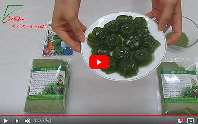 Cách làm thạch rau câu màu xanh mát bột lá dứa